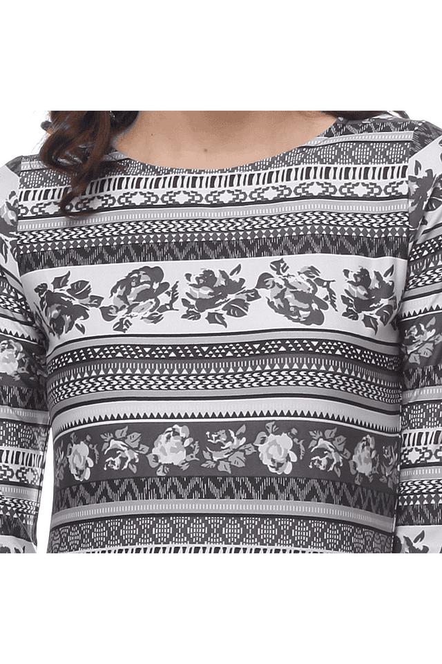 Women Monochrome Printed Maxi Dress