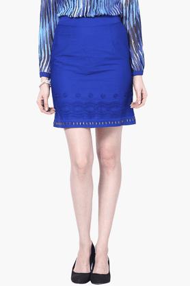 THE VANCAWomens Slim Fit Solid Skirt