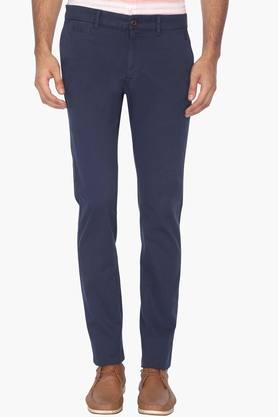 Mens Slim Fit 5 Pocket Solid Chinos (Brooklyn Fit) - 202069949