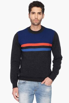 UNITED COLORS OF BENETTON Mens Regular Fit Stripe Sweater