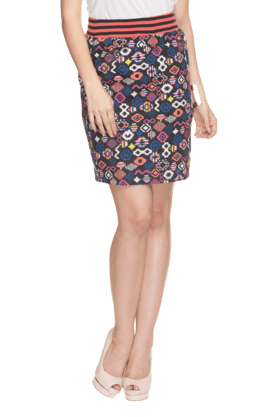 LIFE Women Blended Knee Length Skirt