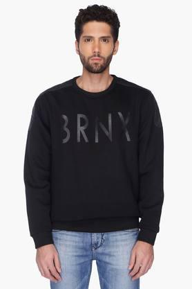 VETTORIO FRATINIMens Printed Round Neck Sweatshirt