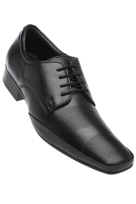 LEE COOPER Mens Black Leather Lace Up Formal Shoe