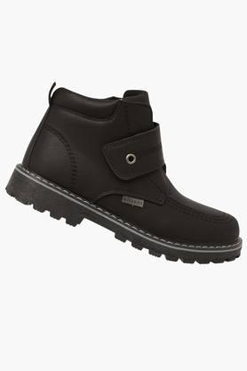 Boys Leather Velcro Closure Boot