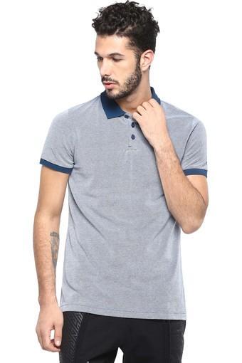 Mens Slub Sports Polo T-Shirt