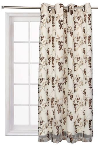 ARIANA -  Brown Window Curtain - Main