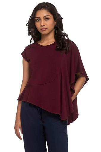 B679 -  Burgundy T-Shirts - Main