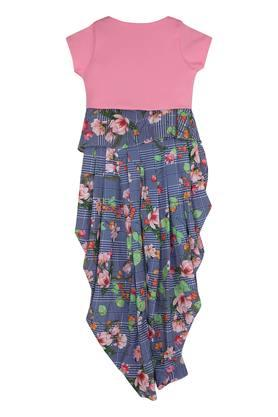TINY GIRL - Royal Blue FLORAL DRESSES FOR GIRLS - 1