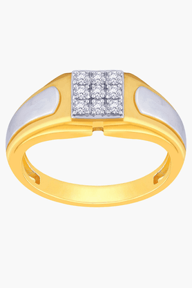 MALABAR GOLD AND DIAMONDS Mens Mine Diamond Ring- Size 23