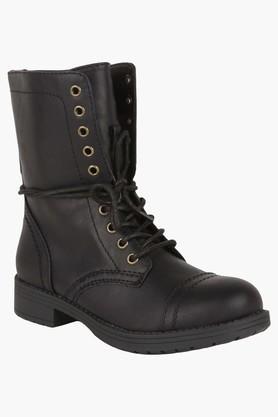 STEVE MADDENWomens Casual Lace Up & Zipper Closure Boots - 201646433