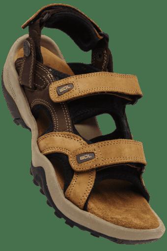 960815f58c327 Buy WOODLAND Mens Nubuk Print Velcro Closure Casual Sandal ...