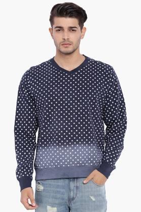 BLUE SAINTMens Star Print Ombre Sweatshirt
