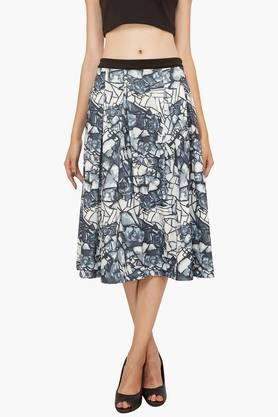 SOIEWomens Printed Pleated Skirt