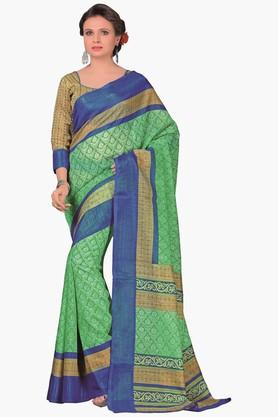 DEMARCA Womens Printed Cotton Saree