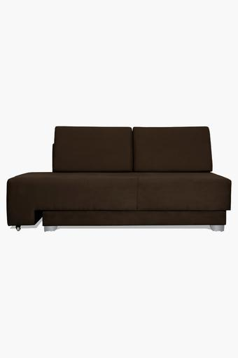 Tan Fabric Sectional Sofa Bed (3 - Seater)