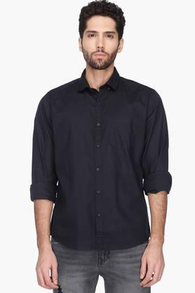 Pepe Formal Shirts (Men's) - Mens Regular Fit Solid Shirt