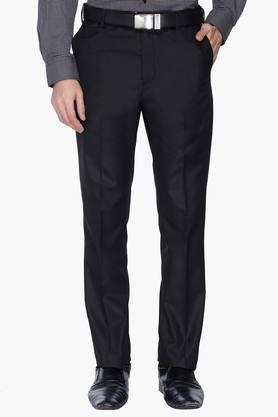 ARROW Mens Tapered Fit Solid Formal Trousers