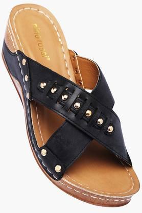 VENTURINIWomens Daily Wear Slipon Wedge Sandals - 201777533
