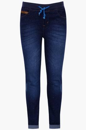 Boys Mild Wash Whiskered Jeans