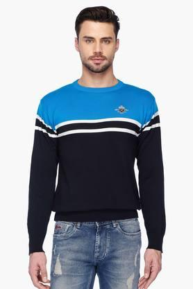 PROLINE Mens Round Neck Colour Block Sweater