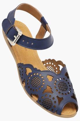 LEMON & PEPPERWomens Casual Ankle Buckle Closure Flat Sandal - 201730921