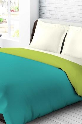 TANGERINE Krayons Polyster Double Quilt - Blue & Green