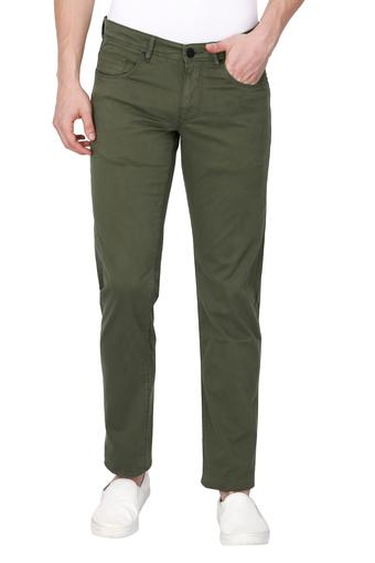 LOUIS PHILIPPE JEANS -  Green Cargos & Trousers - Main
