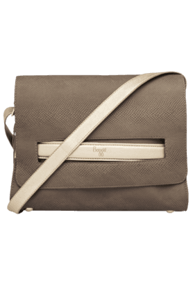 BAGGIT Womens Leather Zipper Closure Sling Bag
