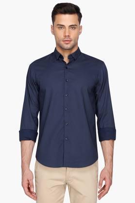 Wilsty Formal Shirts (Men's) - Mens Printed Cutaway Collar Shirt