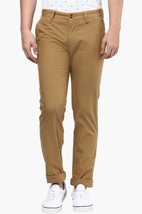 LOUIS PHILIPPE SPORTS Mens 4 Pocket Solid Chinos - 201690878