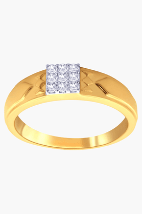 MALABAR GOLD AND DIAMONDS Mens Mine Diamond Ring- Size 24