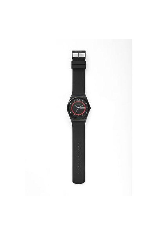Unisex Black Dial Silicon Analogue Watch - SKW6506