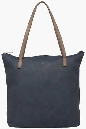 Womens Zipper Closure Synthetic Leather Tote Handbags - 201838167