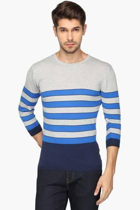 UNITED COLORS OF BENETTONMens Round Neck Stripe T-shirt