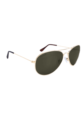 KNOCKAROUND Mile High Unisex Sunglasses Gold/POLARIZED Aviator Green-MHGL1006 (Use Code FB20 To Get 20% Off On Purchase Of Rs.1800)
