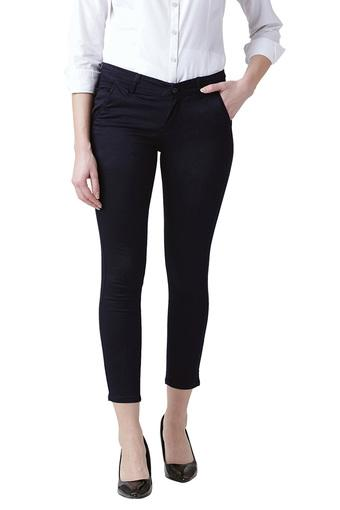 special section wholesale price discount shop Buy DEVIS Womens Skinny Fit Formal Trousers | Shoppers Stop