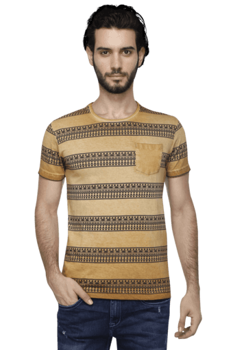f5737c58 Buy MUFTI Mens Short Sleeves Slim Fit Round Neck Printed T-Shirt | Shoppers  Stop