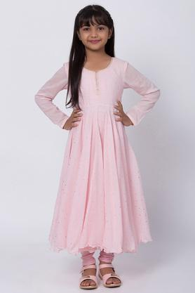 BIBA GIRLS - Salmon Salwar Kurta Set - 3