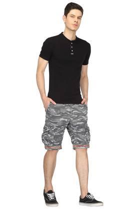 Mens 7 Pocket Camouflage Cargo Shorts