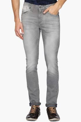 FLYING MACHINE Mens 5 Pocket Skinny Fit Heavy Wash Jeans (Jackson Fit) - 202044439