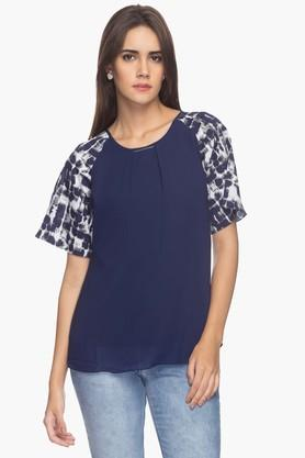 Mesmerize Womens Printed Top