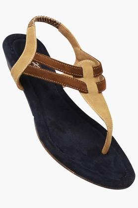 RAW HIDE Womens Daily Wear Slipon Flat Sandal - 201177492
