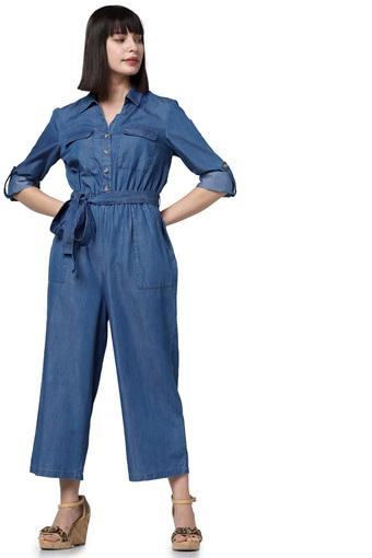 VERO MODA -  Mid BluePalazzos & Jumpsuits - Main