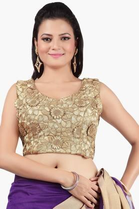 JASHN Women Floral Net Blouse With Side Zipper