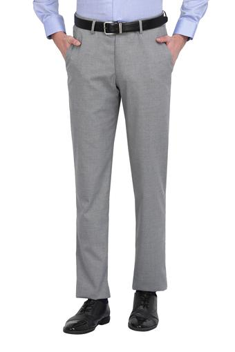 LOUIS PHILIPPE -  Light Grey Cargos & Trousers - Main