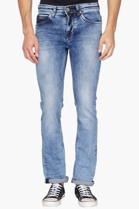 KILLERMens 5 Pocket Slim Fit Stone Wash Jeans