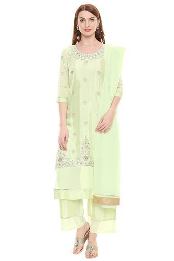 AURELIA -  Pista GreenSalwar & Churidar Suits - Main