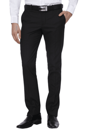 BLACKBERRYS Mens Flat Front Slim Fit Solid Formal Trousers - 200889292