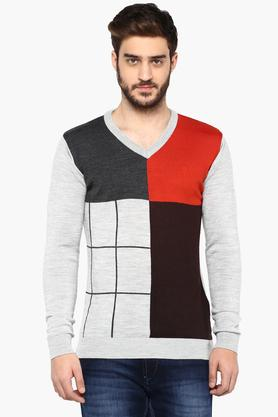 VAN HEUSEN Mens V Neck Colour Block Sweater