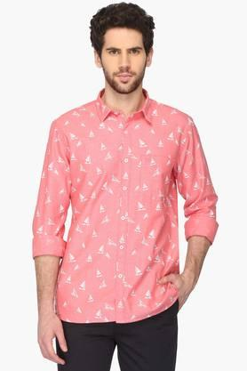 Mens Regular Collar Printed Shirt